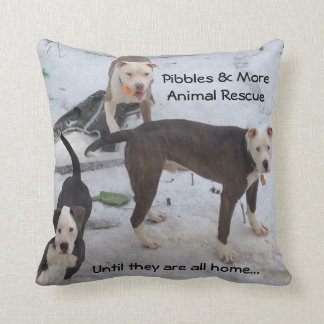 PMAR PILLOW, Adopt Dont Shop Throw Pillow