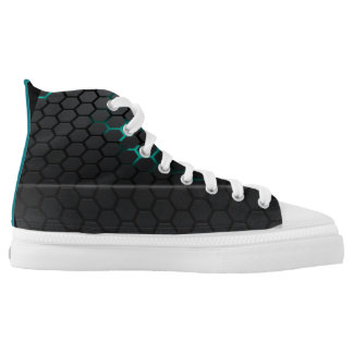 PMO- Zipz High Top Shoes, US Men 4 / US Women 6 Printed Shoes