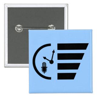 PMRP Black Mini-Logo Button — Standard, Square