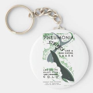 Pneumonia Strikes Basic Round Button Key Ring