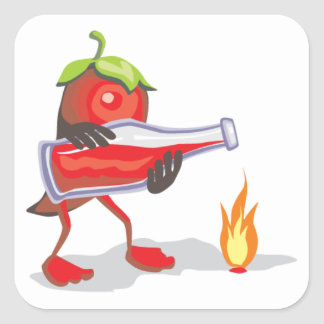 png_CincoDeMayo-015  Mayo mexican mexico chili hot Square Sticker