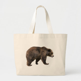 Png isolated brown bear canvas bags
