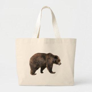 Png isolated brown bear jumbo tote bag