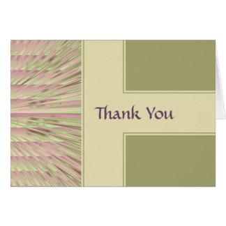 Pnk-Cel-Bg Thank You Note Card