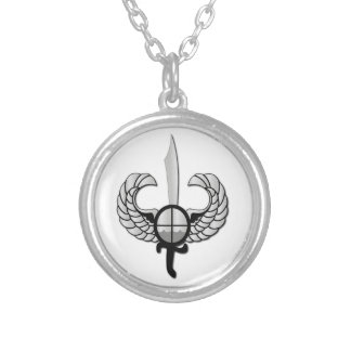 PNP Special Action Force Badge without Text Silver Plated Necklace