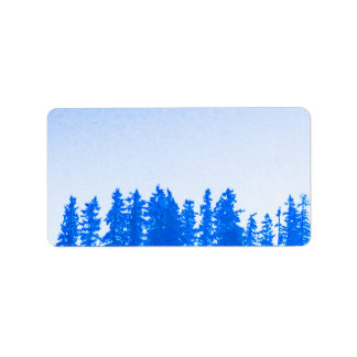 PNW Trees (blue) Address Labels