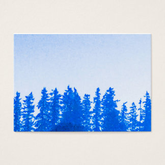 PNW Trees (blue) Chubby Business Card