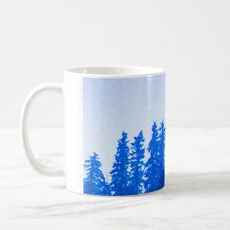 PNW Trees (blue) Mug