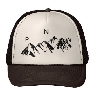 PNW Trucker Hat Off set Lettering