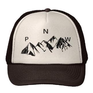 PNW Trucker Hat Off set Lettering