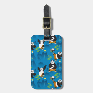 Po and Bao Blue Pattern Luggage Tag