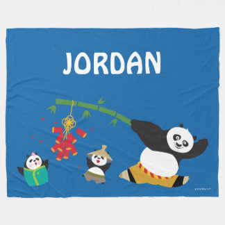 Po Playing with Pandas Fleece Blanket