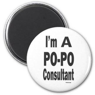 PO-PO Consultent 6 Cm Round Magnet