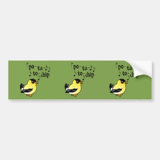 Po-ta-to-chip! Bumper Sticker