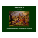 Pocahontas saving Captain John Smith Postcard