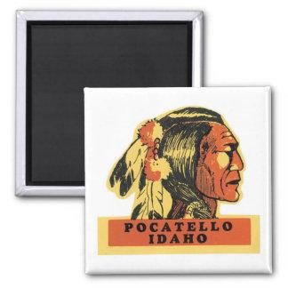 Pocatello, Idaho Square Magnet