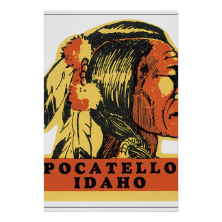 Pocatello Idaho Vintage Travel Poster Artwork