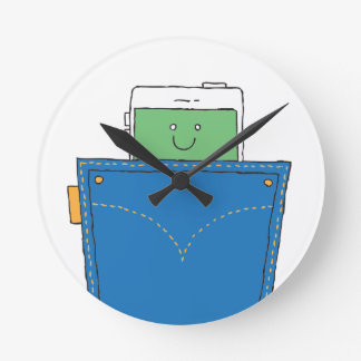 Pocket Buddy Round Clock