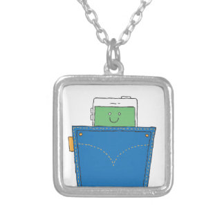Pocket Buddy Silver Plated Necklace