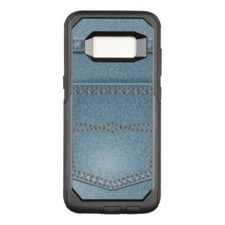 Pocket Denim Blue Jeans OtterBox Commuter Samsung Galaxy S8 Case