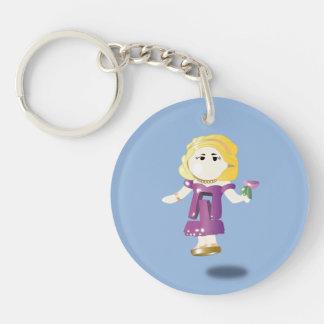 Pocket doll Single-Sided round acrylic key ring