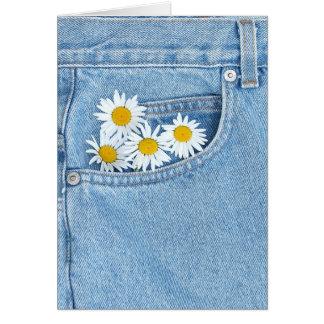 Pocket full of daisies card