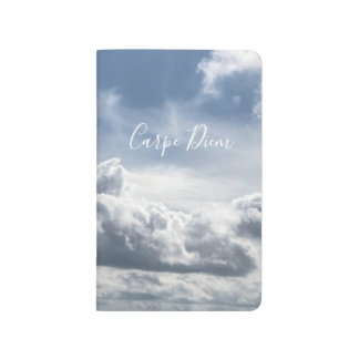 Pocket journal Carpe Diem, photo of the clouds