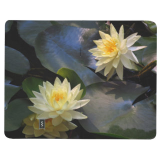 Pocket journal - yellow water lilies