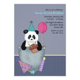 Pocket Panda's Cupcake Birthday Party Invitation