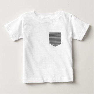 Pocket - strips - black and white. baby T-Shirt