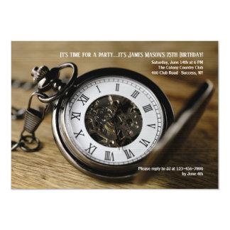 Pocket Watch Invitation