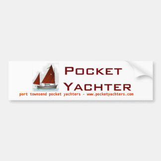 Pocket Yachters bumper sticker
