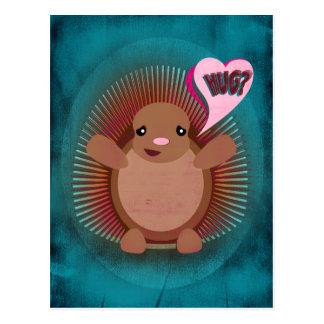 Pocupine Hug Postcard