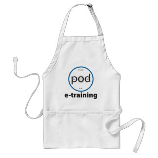 pod-e-training Basic White Utility Apron