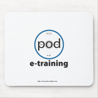 pod-e-training logo-branded mouse pad