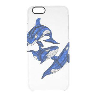 Pod Of 3 Tribal Orcas Clear iPhone 6/6S Case