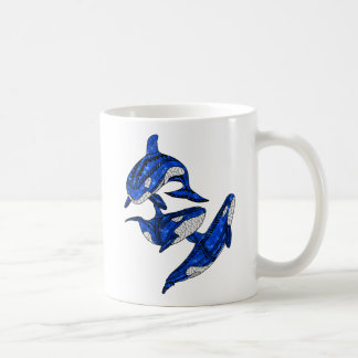 Pod Of 3 Tribal Orcas Coffee Mug