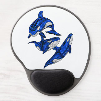 Pod Of 3 Tribal Orcas Gel Mouse Pad