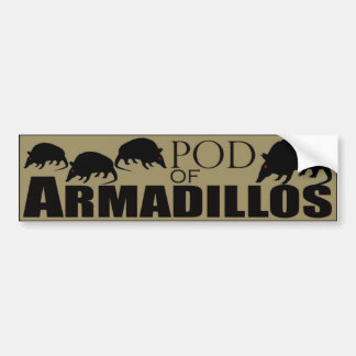 Pod of Armadillos Bumper Sticker