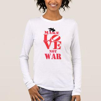 PODALMIGHTY.ROCKS MAKE LOVE NOT WAR LONG SLEEVED T LONG SLEEVE T-Shirt
