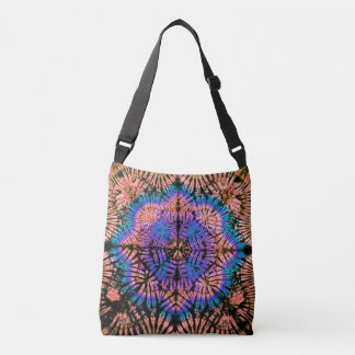 PODALMIGHTY.ROCKS STAR CROSSED TIE DYED UNIVERSE CROSSBODY BAG