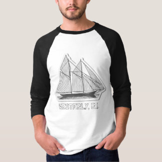 PODALMIGHTY. WESTERLY, R.I. WITH SHIP T-Shirt