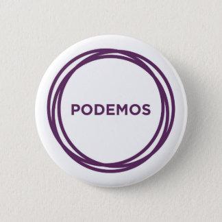 Podemos Button-White 6 Cm Round Badge
