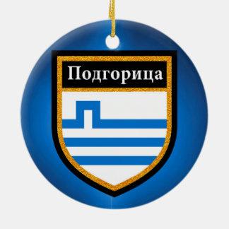Podgorica Flag Ceramic Ornament