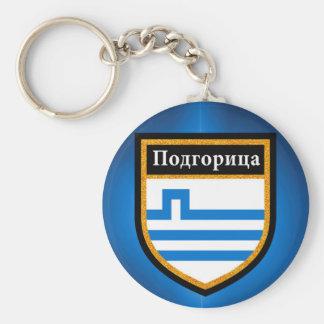 Podgorica Flag Key Ring