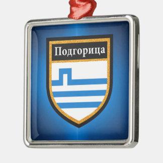 Podgorica Flag Metal Ornament