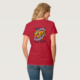 PODPILOTS.COM POP THAT CORK v-neck tee