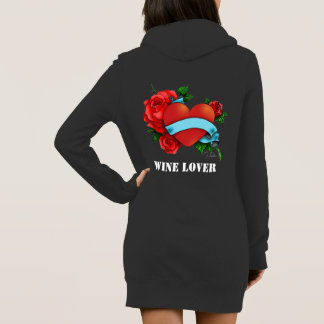 podpilots.com WINE LOVER long gray hoodie