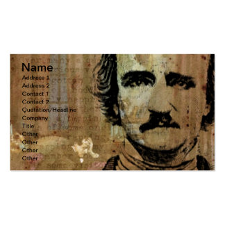 Poe Collage Horizontal Business Card