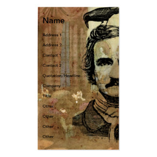 Poe Collage Vertical Business Card Template